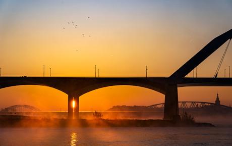 Zonsopkomst Nijmegen