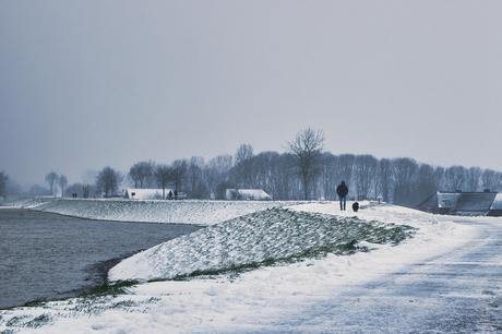 Sneeuw en hoogwater