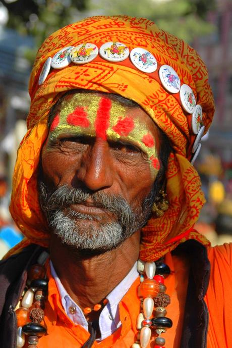 Portret man Noord India