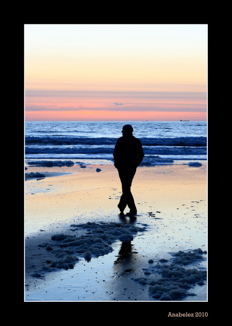 Silhouette on the beach