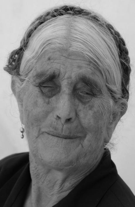 blinde vrouw