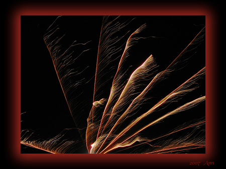 Slingers... - - - foto door Ann_zoom op 22-01-2007 - deze foto bevat: avond, , fotografie, vuurwerk, feest