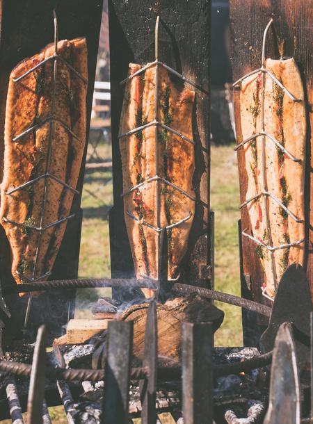 Smoked salmon - - - foto door VivianAlexandra op 24-09-2017 - deze foto bevat: food, festival, fair, gerookte, zalm, salmon, smoked