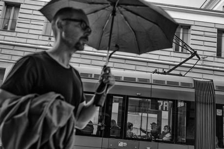 7A onder een Paraplu