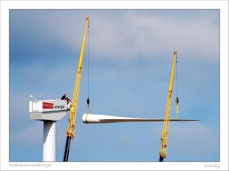 Werken aan windenergie