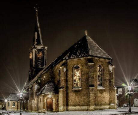Kerk in de sneeuw