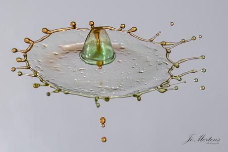 hoed van water druppels