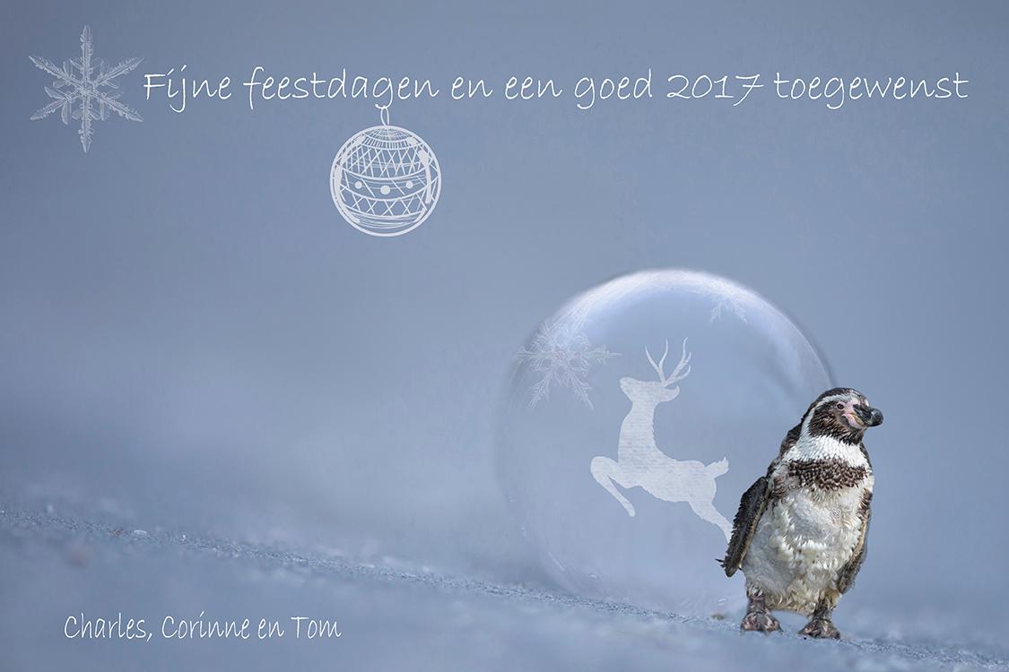 Fijne dagen - Iedereen hele fijne dagen toegewenst.  Bedankt voor alle leuke en fijne reacties op mijn foto's van het afgelopen jaar - foto door corinnec op 22-12-2016 - deze foto bevat: druppel, kerst, pinguin, bellenblaas