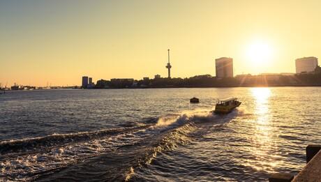 Zonsondergang Rotterdam