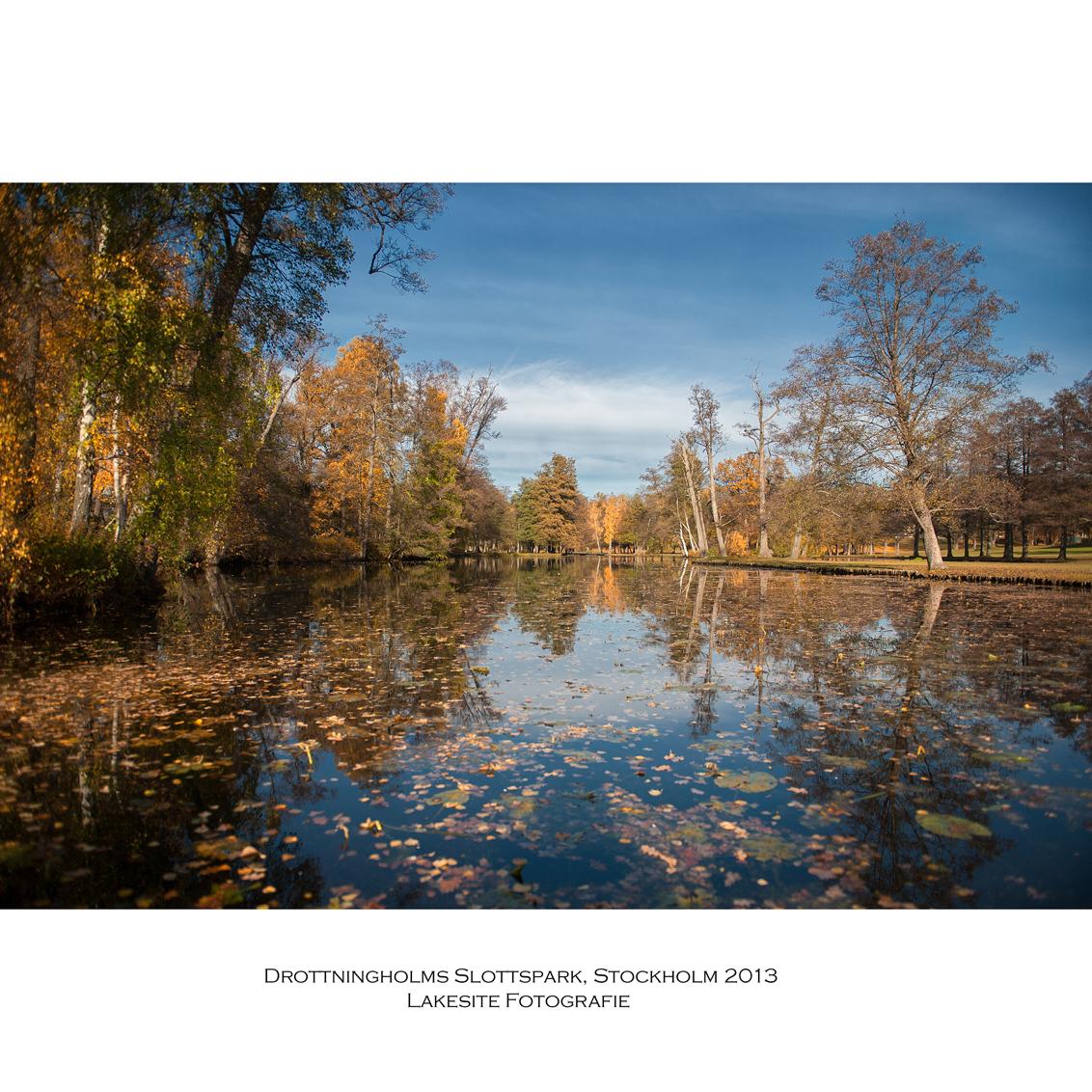 Paleistuin Drottningholm, Stockholm 2013 - waterpartij in Drottningholms Slottparken - foto door Lakesite op 01-01-2014 - deze foto bevat: kleur, water, herfst, reizen, stad, nikon, zweden, stockholm, d700, 2013, D7100