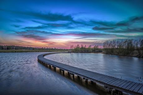 Frisse zonsondergang