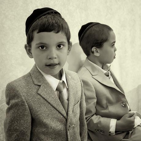 Joods orthodox bruiloftsfeest