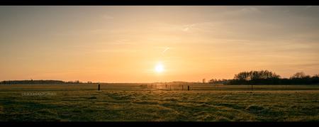 Zonnig - Een natuurfenomeen dat elke dag plaatsvindt en nooit vermoeiend wordt om naar te kijken.    ©MotionMan 2021 - foto door motionman op 05-03-2021 - deze foto bevat: gras, lucht, kleuren, zon, licht, avond, zonsondergang, landschap, tegenlicht, zons, nacht, perspectief, compositie, sfeer, kleurrijk, veld, weiland, warm, friesland, ondergang, zonnig, grasveld, sfeervol, avondval, warme, scene, warmekleuren, scenisch