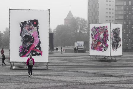 BredaPhoto in pink - Gemaakt bij BredaPhoto op een grijze ochtend - foto door MarjolijnVonhof op 01-11-2014 - deze foto bevat: breda, bredaphoto