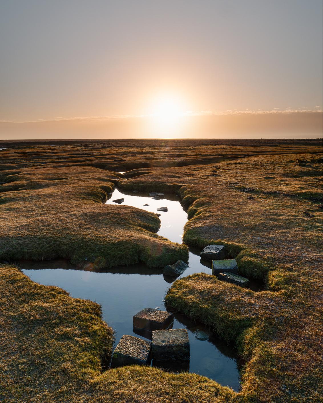 Ochtendstond - Zonsopkomst vlakbij Punt van Reide in de provincie Groningen. De zon kwam pas laat over de wolken heen, maar dit gaf mij wel de tijd om een veel mooi - foto door P-Philip op 26-02-2021 - deze foto bevat: lucht, kleur, water, natuur, licht, spiegeling, landschap, zonsopkomst, voorjaar, groningen, kust, nederland