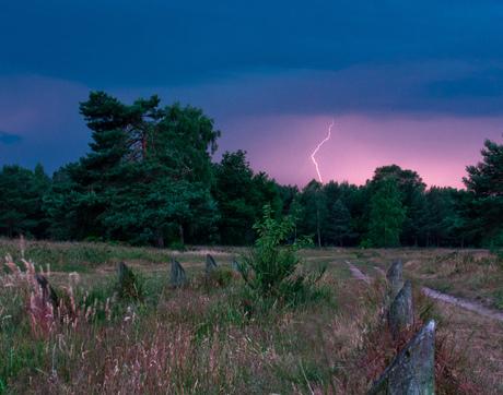 Onweer op de Veluwe