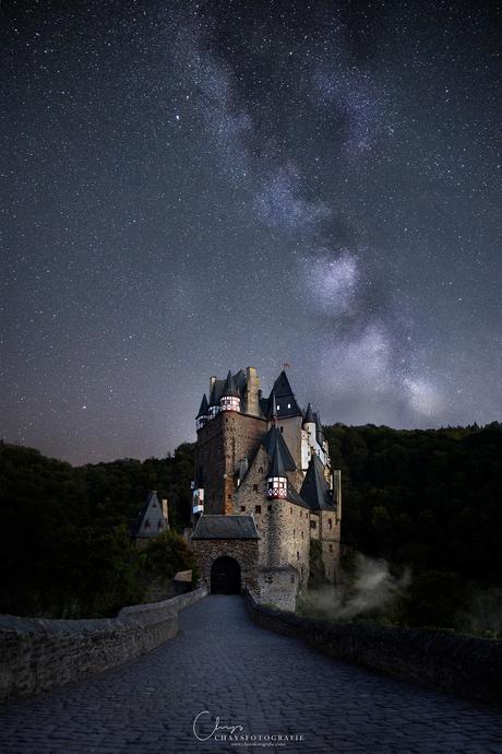 Castle underneath the stars