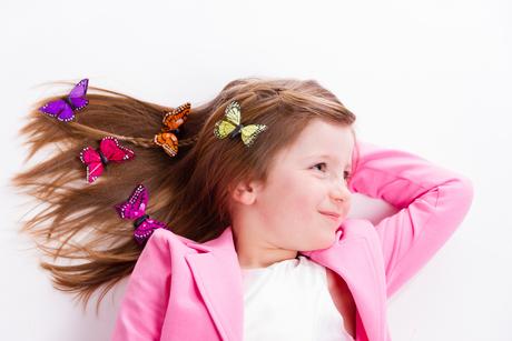 Girls and butterflies
