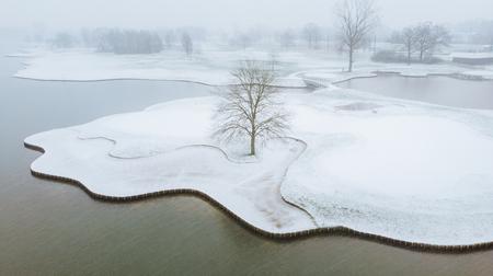 Fresh layer of snow - een sereen landschap gelokaliseerd in België met een vers laagje witte sneeuw - foto door LivioP op 24-02-2021 - deze foto bevat: water, licht, sneeuw, winter, ijs, landschap, bomen, rivier
