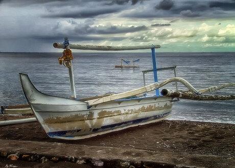 Bootje op Bali
