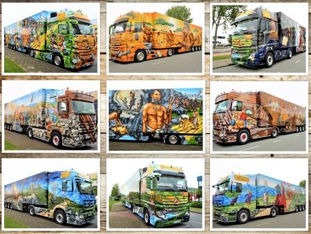 collage Truckwereldgroep 10 jaar actief Toetje foto TEKNO event 23mei 2015 - Hallo Zoomers, GROOT kijken en even lezen . Afgelopen week was mijn thema Truckwereld groep 10 jaar Actief op zoom en dat deed ik met 10 Truck fotos  - foto door jmdries op 07-03-2021 - deze foto bevat: kleur, kunst, collage, voertuig, straatfotografie, transport, details, truckwereld groep 10 jaar actief