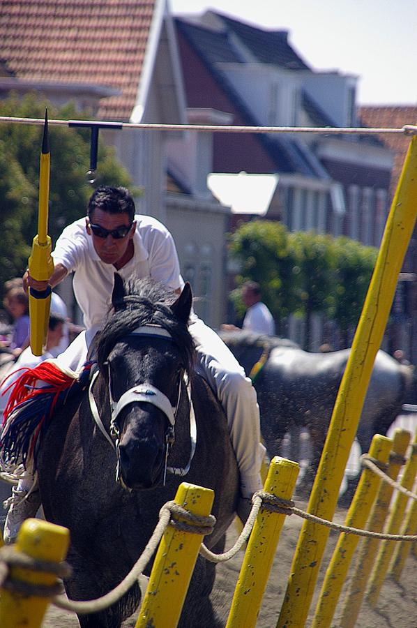 Gemist - De Zeeuwse folklore kent diverse specialiteiten. In Domburg waren wij bij het ringsteken. Snelheid en precisie zijn de eigenschappen om te laten zie - foto door w.zijlstra10 op 10-08-2010 - deze foto bevat: zeeland, ringsteken, domburg