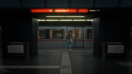 Metro Wenen - Metro Wenen - foto door gabriel-batenburg1969 op 14-04-2021 - locatie: Wenen, Oostenrijk - deze foto bevat: #straatfotografie, #metro, architectuur, armatuur, vloeren, verdieping, gebouw, gas, stad, symmetrie, ruimte, duisternis