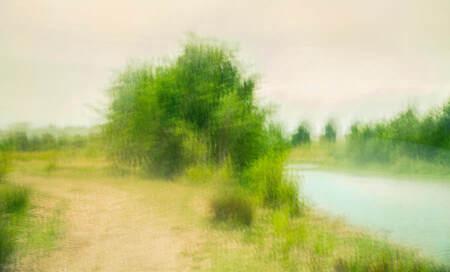 """riverbank steafull - impressionistische, intentional camera movement, plaat, in het kader van  """" inspired by """" - foto door boehle op 11-09-2019"""