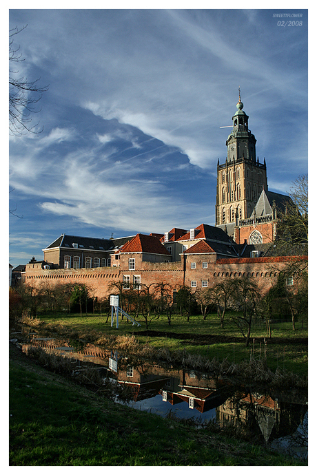 Zicht op het oude centrum Zutphen