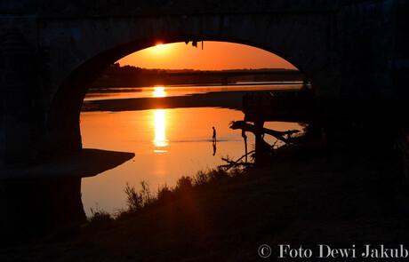 Zonsondergang in Saumur