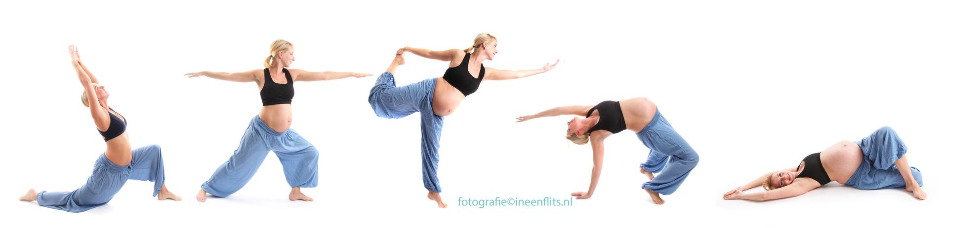Zwanger Yoga - Een zwangere danseres portretteren stond jaren op mijn verlanglijstje. Ik heb ballet en dans scholen benaderd zonder resultaat. En dan ineens, Bo! Bo - foto door Kirsten Groeneveld op 01-03-2015 - deze foto bevat: vrouw, portret, flits, baby, dans, zwanger, studio, fotoshoot, yoga