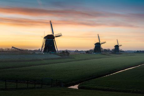 Typisch Nederlandse zonsopkomst
