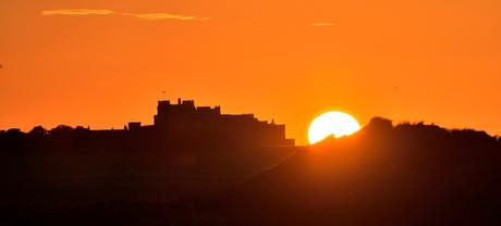 sunset bamburgh castle