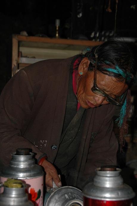 Making Yak tea