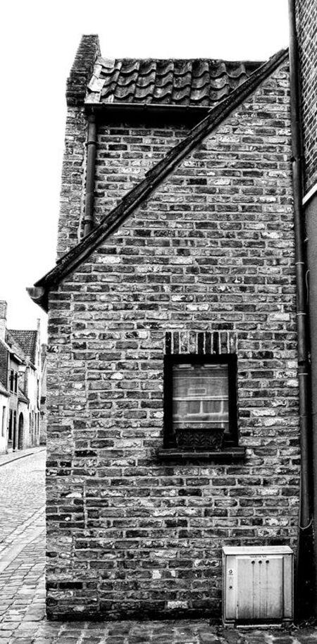 Brugge - Bedankt voor jullie voorgaande reacties! Wederom een beeld uit Brugge, dit keer weer een zwart witje :D - foto door thuban op 24-03-2010 - deze foto bevat: stad, huis, belgie, brugge
