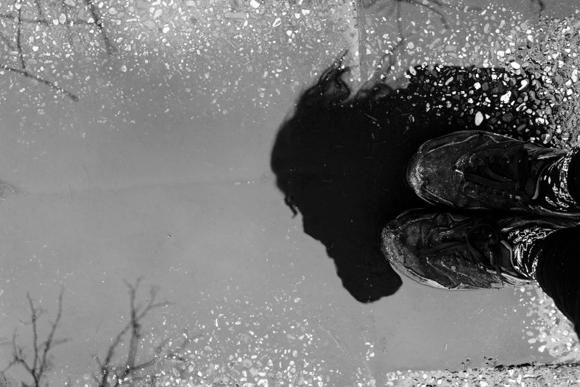 Rainy shadow - Reflectie van mezelf tijdens een prachtige natuur wandeling met mijn hond - foto door niy op 10-03-2020 - deze foto bevat: lucht, wolken, donker, straat, strand, abstract, water, lente, natuur, vlinder, licht, structuur, portret, zwart, reclame, spiegeling, reflectie, mist, schaduw, model, zelfportret, daglicht, meer, kunst, stad, stoer, kermis, vintage, meisje, schoenen, zwartwit, sfeer, emotie, wandelen, beweging, contrast, straatfotografie, vrijmarkt, creatief, textuur, kleding, urbex, lowkey, styling, urban exploring, Selfie
