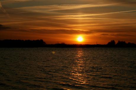 zonsondergang bij emmen