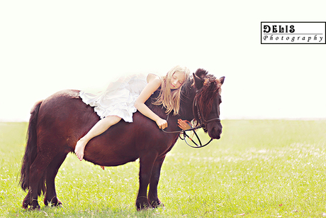 The love between a girl and a horse