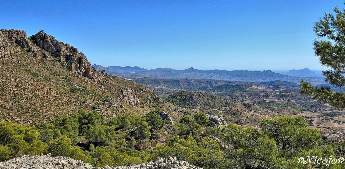Helder weer..... - Weer een prachtige dag met helder weer in de natuur. Sierra de la Pila, uitzicht vele km ver.  Bedankt voor al jullie reacties op mijn vorige foto' - foto door ocelot_zoom op 18-10-2020 - deze foto bevat: natuur, landschap, bos, bomen, bergen, spanje, ldr, sierra de la pila, nicojo
