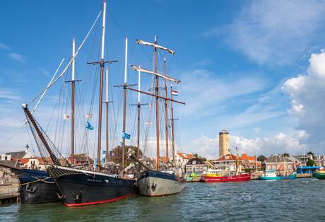 De haven van Terschelling
