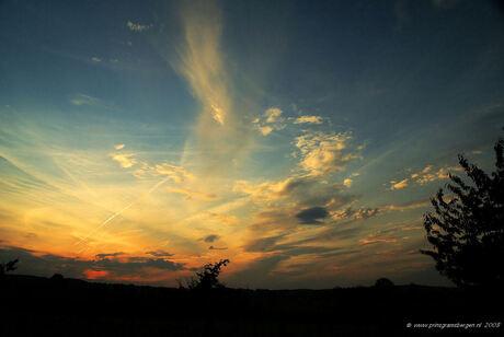 zonsondergang nabij Epen