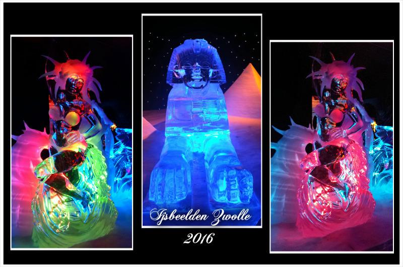 Ijsbeelden Zwolle - Vorige week een middag naar Zwolle geweest om foto s van de ijsbeelden te maken het was ontzettend koud maar wel de moeite waard. - foto door FemmieKoekoek op 19-01-2016