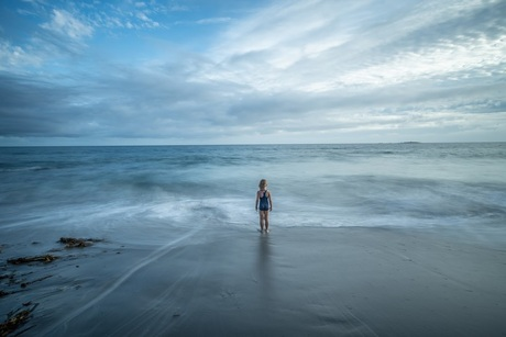 Lange sluitertijd en de atlantische oceaan