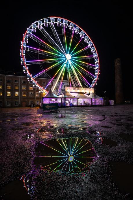 Reuzenrad voor de Suikerunie in Groningen