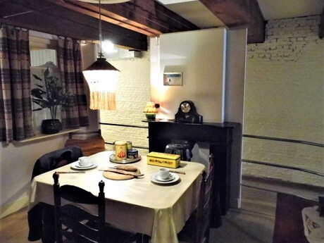 Huiskamer begin 50er en 60er jaren