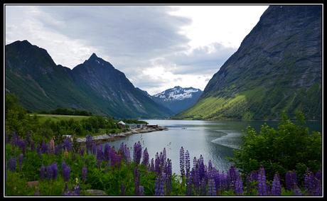 De Norangsfjord in Noorwegen.
