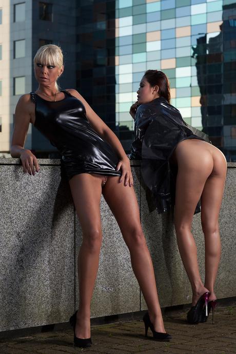 Bianca en Davon, urban nude