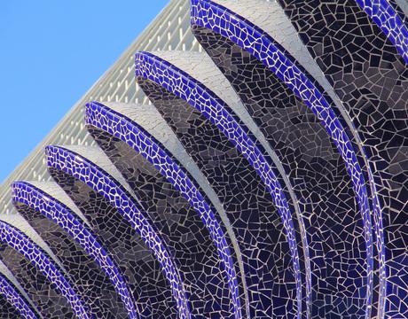 blauw mozaik