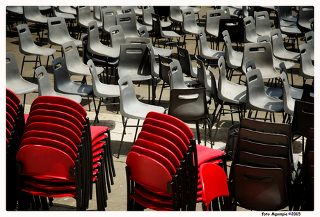 Empty chairs today
