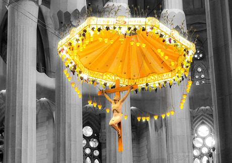 Stralend licht in de Sagrada Familia